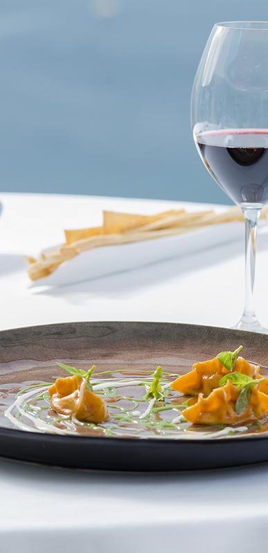 dettaglio piatto franco's restaurant vista mare