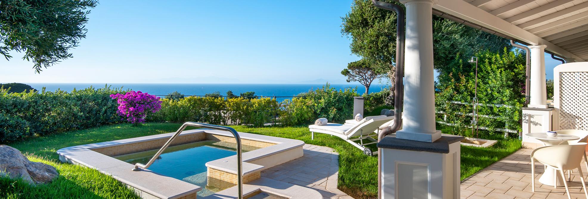 terrazza e piscina Olea grand suite